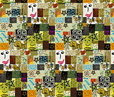 Cartoon Cheater Quilt fabric by anniedeb on Spoonflower - custom fabric