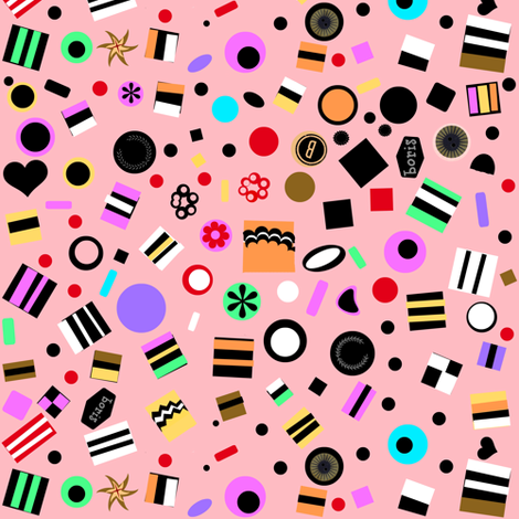 Licorice Scatter fabric by boris_thumbkin on Spoonflower - custom fabric