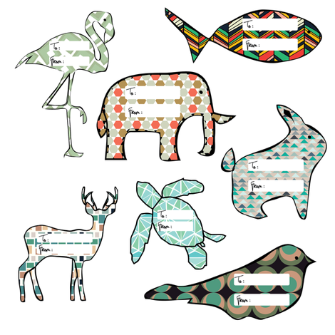 Funky_Animals fabric by monicasuarez on Spoonflower - custom fabric