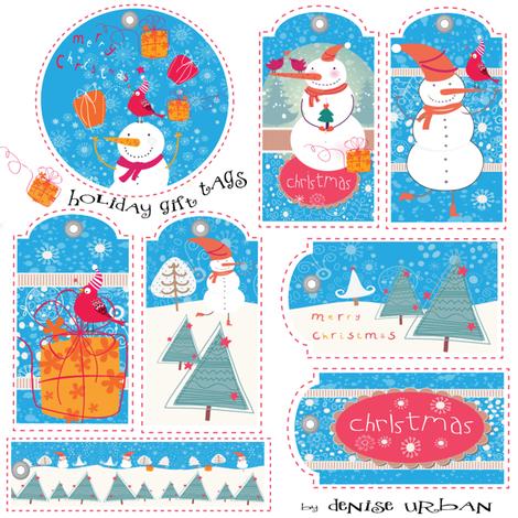 Gift Tags fabric by deeniespoonflower on Spoonflower - custom fabric