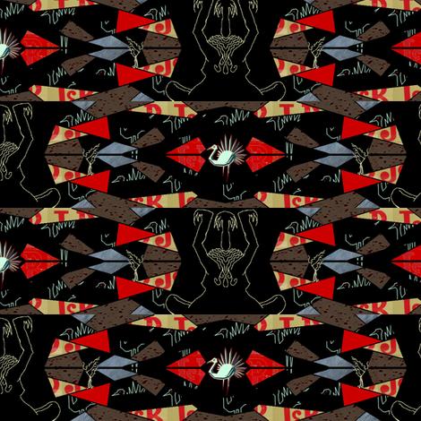 piume di cristallo 2 fabric by emanuelletomato on Spoonflower - custom fabric