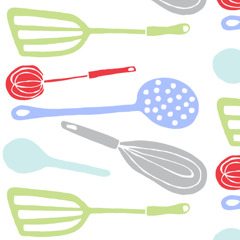 Magic Kitchen Tools (multi) fabric by pattyryboltdesigns on Spoonflower - custom fabric