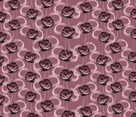 roses and bows on mauve fabric by kociara on Spoonflower - custom fabric