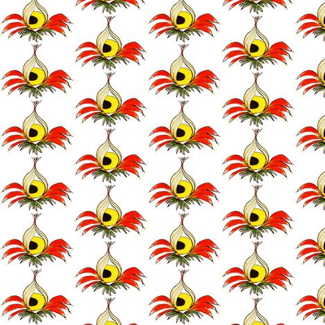 Jaundiced Eye, pod, white bkgnd fabric by whimsikate on Spoonflower - custom fabric