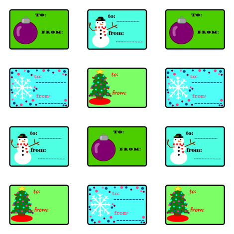 holiday gift tags fabric by laurab23 on Spoonflower - custom fabric