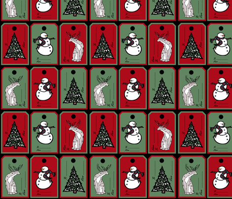 Holiday Tags fabric by pond_ripple on Spoonflower - custom fabric