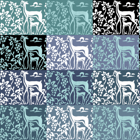 wooden-tjaps-deer-3-close-multiswatch1-adobe1998 fabric by mina on Spoonflower - custom fabric