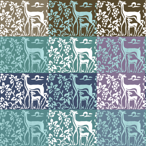 wooden-tjaps-deer-3-close-multiswatch2-adobe1998 fabric by mina on Spoonflower - custom fabric