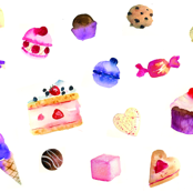 La Dolce Vita Watercolor Sweets and Cakes