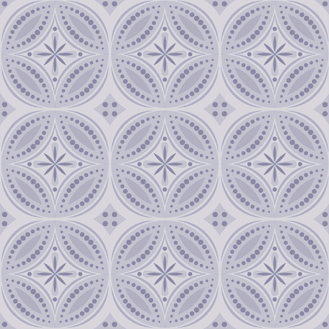 Moroccan Tiles (Pale Violet) fabric by shannonmac on Spoonflower - custom fabric