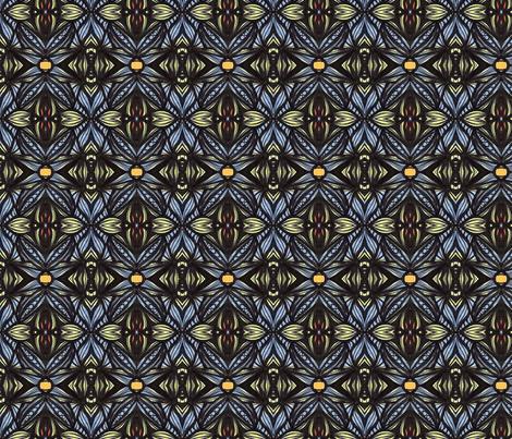 Blue X for La La fabric by kcs on Spoonflower - custom fabric