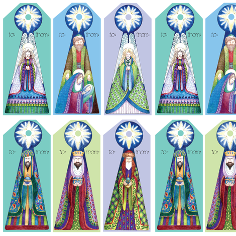 jewelmangergifttags fabric by leslipepper on Spoonflower - custom fabric