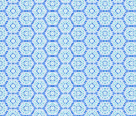 Blue connections fabric by mihaela_zaharia on Spoonflower - custom fabric