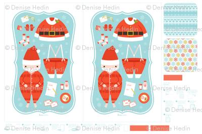 Santa tea towels & potholder
