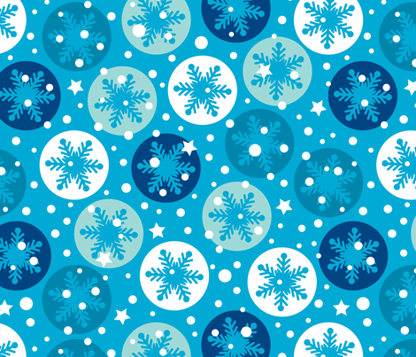 Snow in the forecast fabric by mariafaithgarcia on Spoonflower - custom fabric