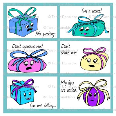 Secret Present Gift Tags