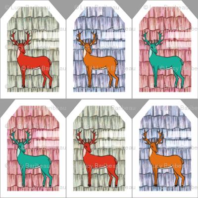 Sweet deer gift tags