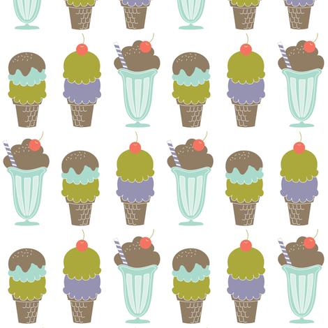 Ice Cream Line-Up fabric by eleasha on Spoonflower - custom fabric