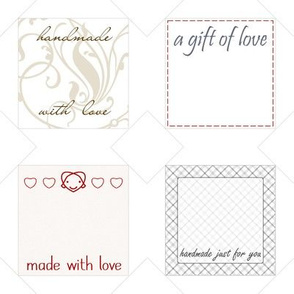 gift tags / quilt labels