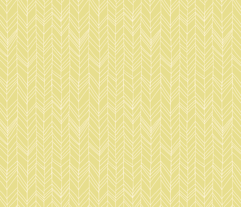 Featherland (acid yellow) fabric by leanne on Spoonflower - custom fabric