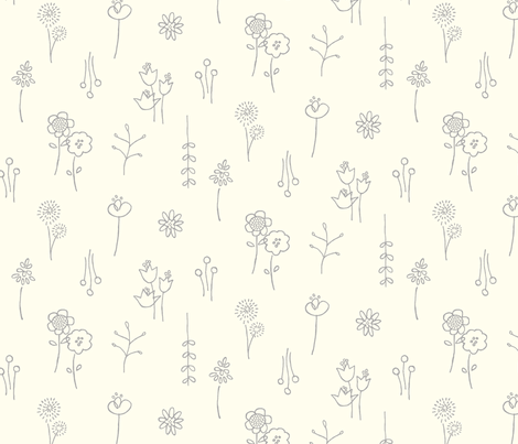 Flower Show (Vanilla) fabric by leanne on Spoonflower - custom fabric