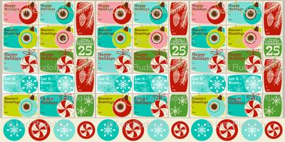 'Tis the Season Too! ~ Gift Tags ~ set no. 1 (WALLPAPER SWATCH)