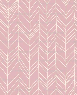 featherland Dusty Pink/Cream