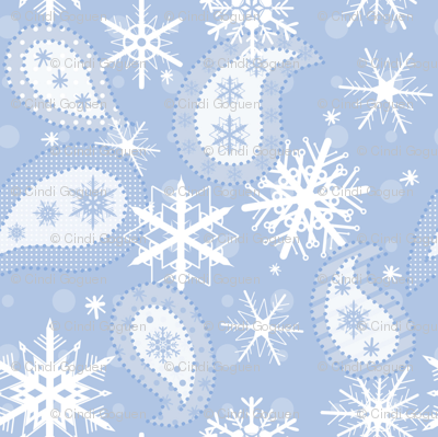 winter paisley