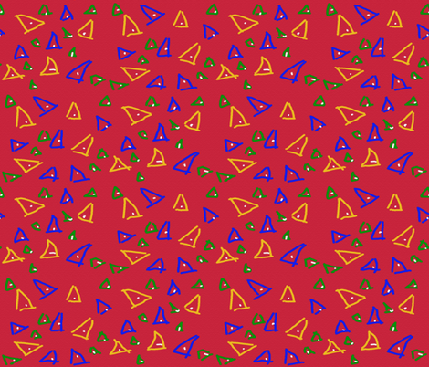 Unfulfilled Triangles on Red fabric by anniedeb on Spoonflower - custom fabric