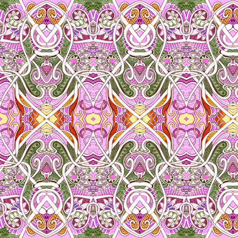 In the Service of Her Royal Magesty (feminine floral abstract) fabric by edsel2084 on Spoonflower - custom fabric
