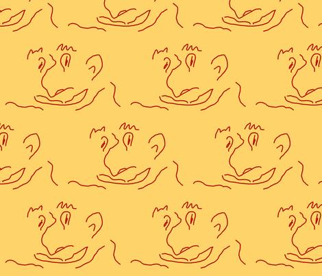 The Schnoz fabric by anniedeb on Spoonflower - custom fabric