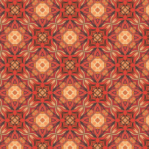 Firey fabric design
