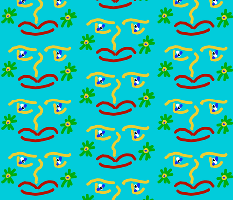 A Face for Mardi Gras fabric by anniedeb on Spoonflower - custom fabric