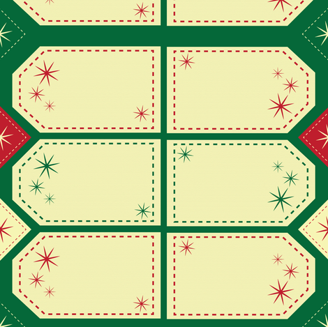 Christmas Tags  fabric by hmooreart on Spoonflower - custom fabric