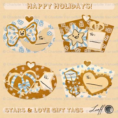 Stars & Love Gift Tags