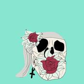 Skull with Flower Mint