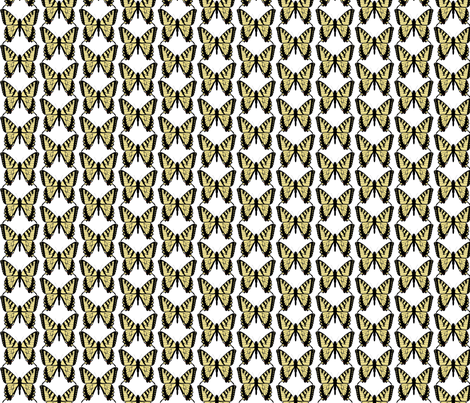 Butterfly-yellowtail fabric by terriaw on Spoonflower - custom fabric