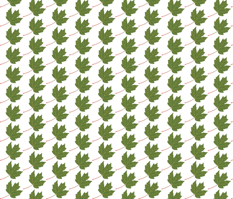 Leaf-Maple-green fabric by terriaw on Spoonflower - custom fabric