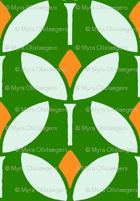 Mod flower orange