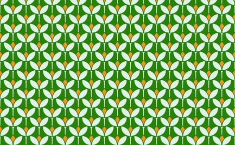 Mod flower orange fabric by myracle on Spoonflower - custom fabric