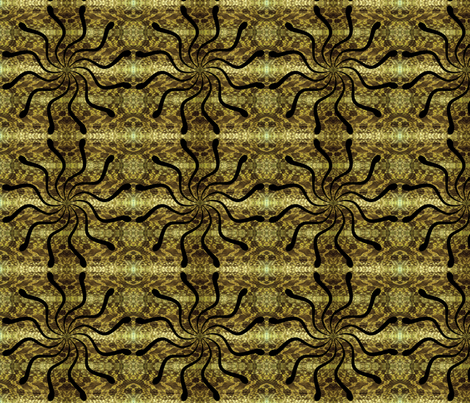 snake-circle fabric by hmooreart on Spoonflower - custom fabric