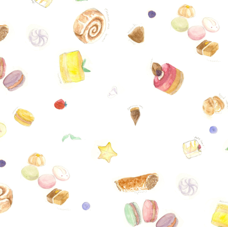 Decadent Sweets fabric by lucysletter on Spoonflower - custom fabric