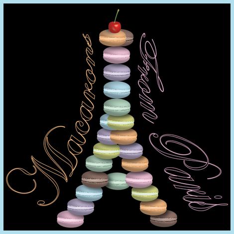 Macarons from Paris (Napkins) fabric by vannina on Spoonflower - custom fabric