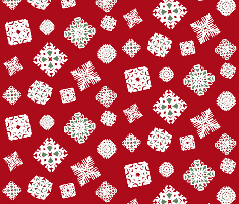 Snowflakes fabric by pond_ripple on Spoonflower - custom fabric