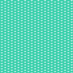 Birdsong - White on Aqua (Half-Drop)