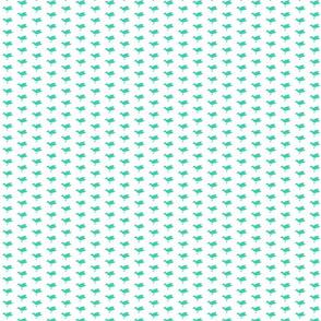 Birdsong - Aqua on White (Half-Drop)
