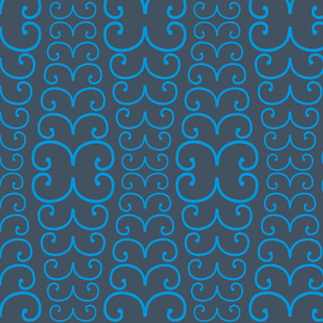 Conquerer Breath Blue fabric by brainsarepretty on Spoonflower - custom fabric