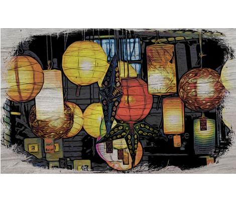 Lanterns #3 fabric by technorican on Spoonflower - custom fabric