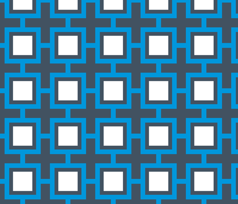 Concentric Blue Squares fabric by brainsarepretty on Spoonflower - custom fabric