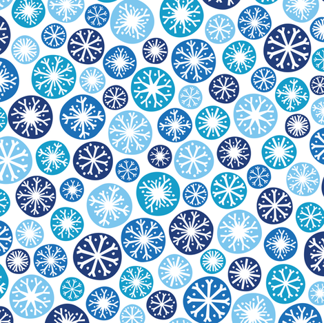 Snow Daze fabric by robyriker on Spoonflower - custom fabric